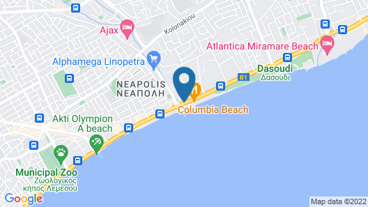 Crowne Plaza Limassol Map