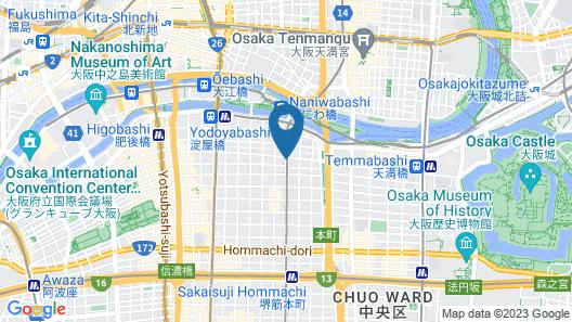 Daiwa Roynet Hotel Osaka Kitahama Map