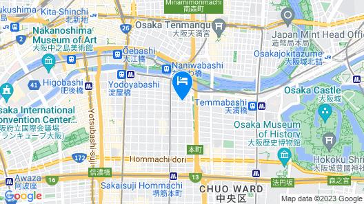 Dormy Inn Premium Osaka Kitahama Hot Springs Map