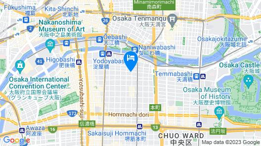 APA Hotel Yodoyabashi Kitahama-Ekimae Map