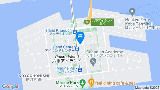 Kobe Bay Sheraton Hotel & Towers Map