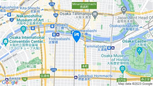 UNIZO INN Osaka Kitahama Map
