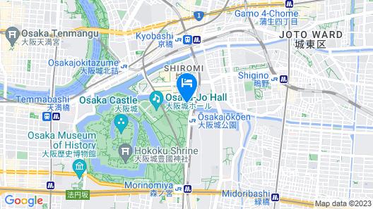 Hotel New Otani Osaka Map