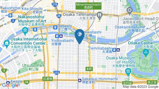 Best Western Plus Hotel Fino Osaka Kitahama Map