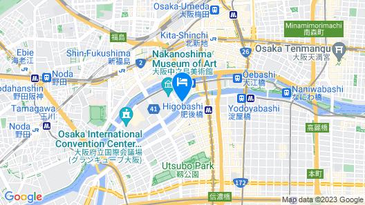 Smile Hotel Osaka Nakanoshima Map