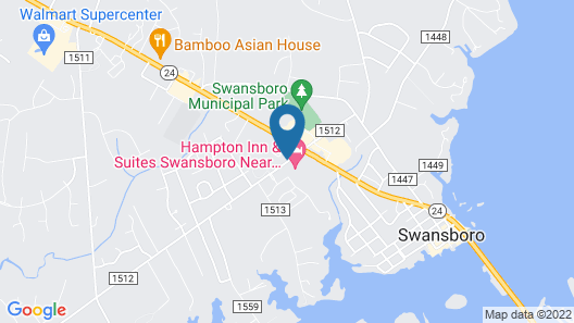 Hampton Inn & Suites Swansboro Near Camp Lejeune, NC Map