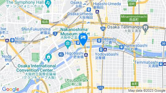 Conrad Osaka Map