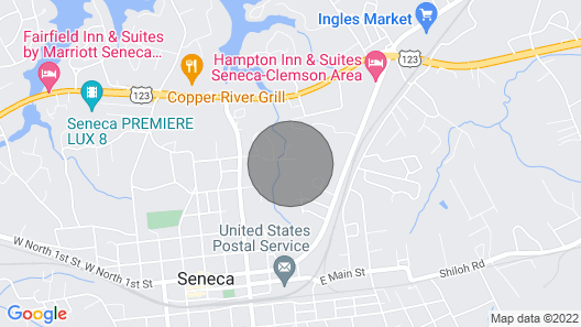 3/2 Close to Clemson Oconee Nuclear Rivers Hiking Map