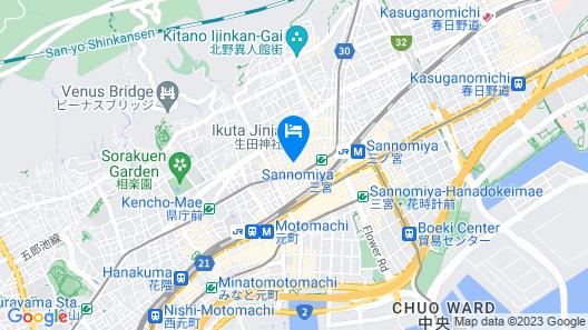 APA Hotel Kobe-Sannomiya Ekimae Map