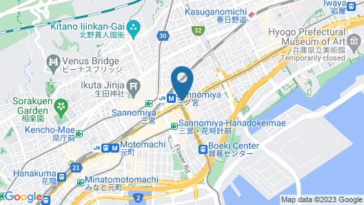 Kobe Sannomiya Tokyu REI Hotel Map