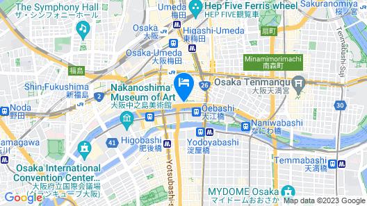 ANA Crowne Plaza Osaka Map