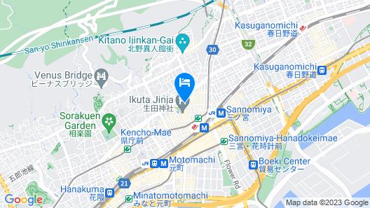 Daiichi Grand Hotel Kobe Sannomiya Map