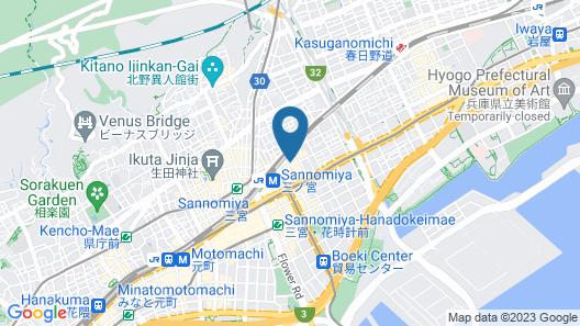 Sotetsu Fresa Inn Kobe-Sannomiya Map