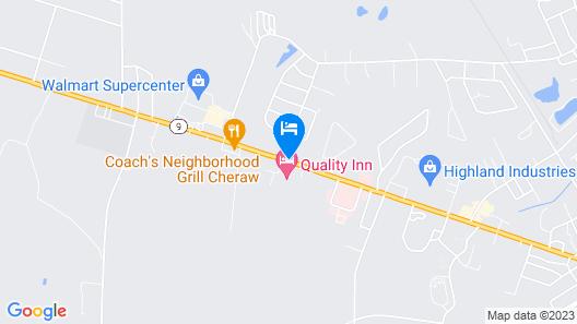 Quality Inn Cheraw Map