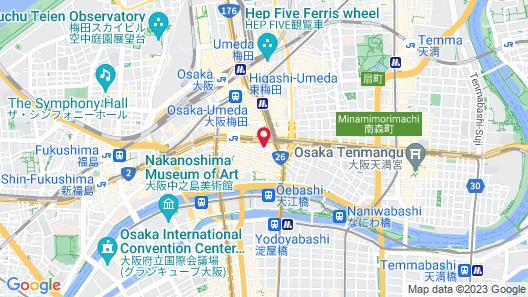 Hotel Monterey Le Frere Osaka Map