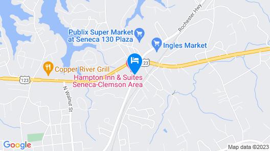 Hampton Inn & Suites Seneca-Clemson Area, SC Map