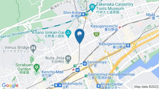 UNIZO INN Kobe Sannomiya Map