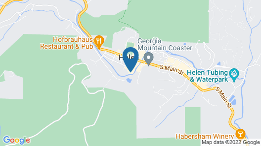Riverbend Motel & Cabins Map