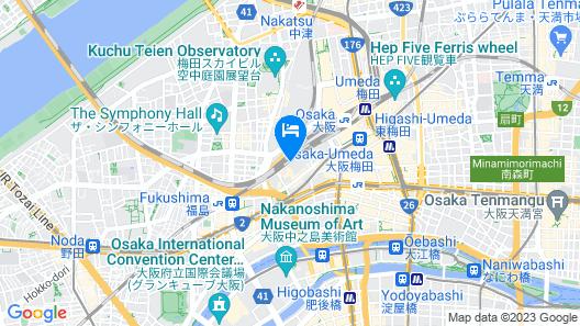 Hotel Monterey Osaka Map