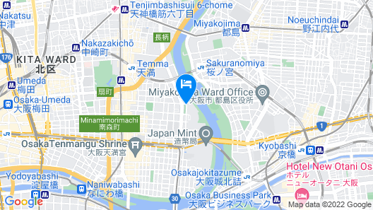Imperial Hotel Osaka Map