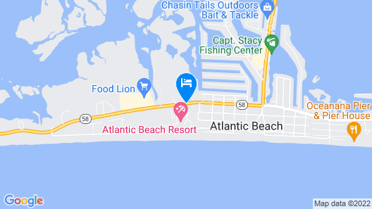 Atlantic Beach Resort, a Ramada by Wyndham Map