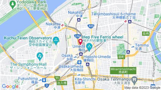 Hotel New Hankyu Osaka Map