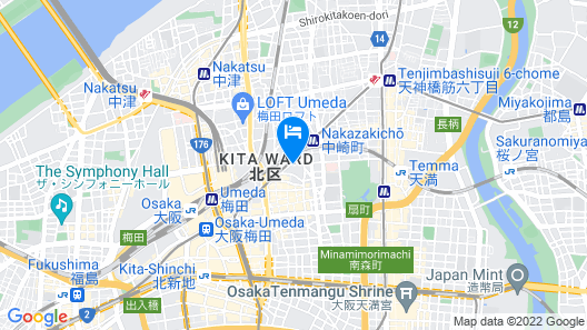 Ibis budget Osaka Umeda Map