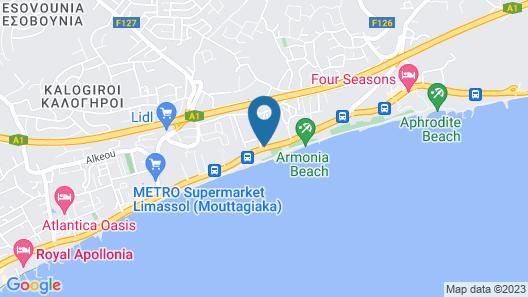 Poseidonia Beach Hotel Map