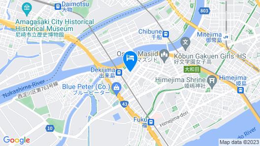 Osaka Zebrahouse Dekijima Map
