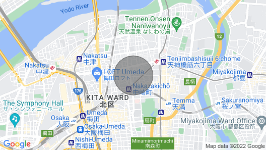 Corpo Chapelle Located a few Steps From Shimoyamatobashi Monument in Osaka Map