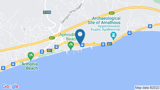 Amathus Beach Hotel Limassol Map