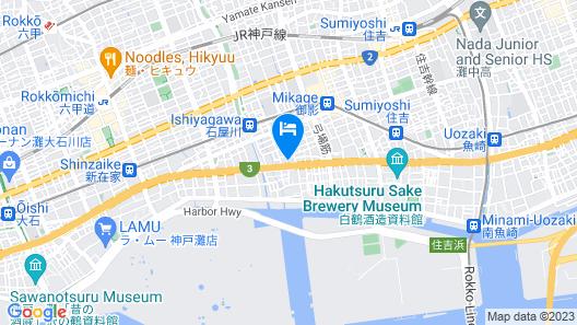 OYO Hotel Please Kobe Map