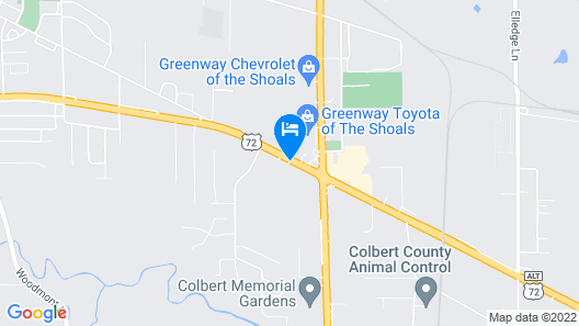 Microtel Inn & Suites by Wyndham Tuscumbia/Muscle Shoals Map