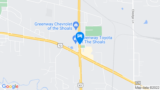Comfort Inn & Suites Tuscumbia - Muscle Shoals Map
