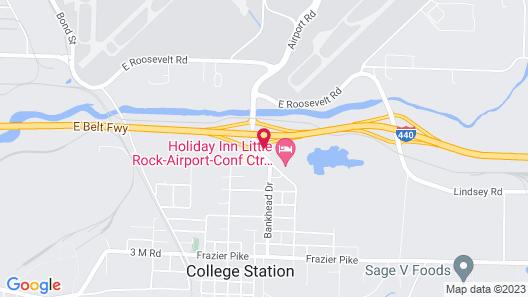 Holiday Inn Express Little Rock Airport, an IHG Hotel Map