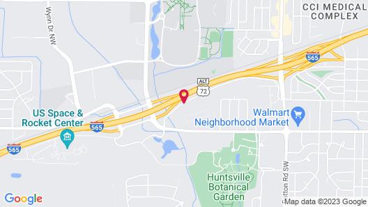 Hilton Garden Inn Huntsville/Space Center Map
