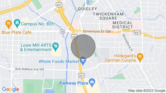 ⭐️Sparkling Clean⭐️ ❤️ Downtown, Hospital, Von Braun Map