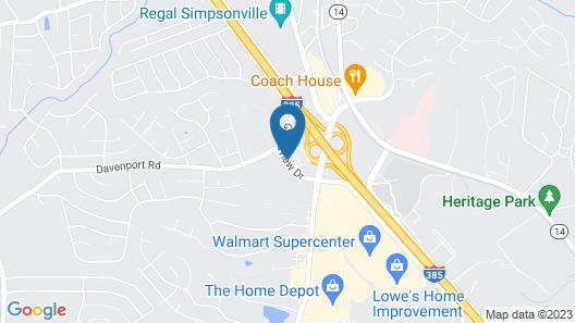 Fairfield Inn & Suites by Marriott Greenville Simpsonville Map