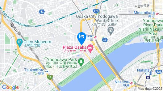 Grandouce Juso-Higashi Map