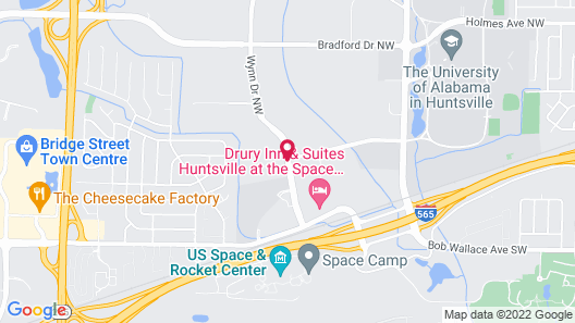 Drury Inn & Suites Huntsville at the Space & Rocket Center Map