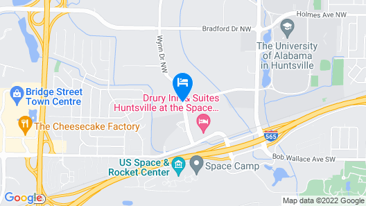 Drury Inn & Suites Huntsville at the Space & Rocket Center Map