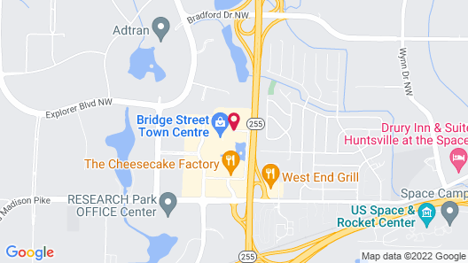 The Westin Huntsville Map