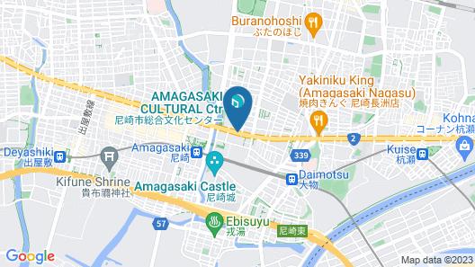 Miyako Hotel Amagasaki Map
