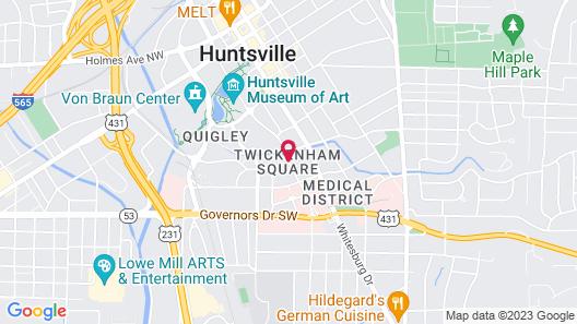 Homewood Suites by Hilton Huntsville - Downtown, AL Map