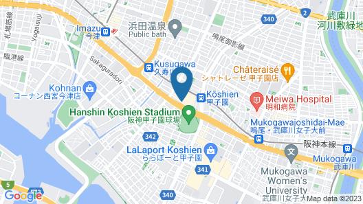 Hotel Hewitt Koshien Map