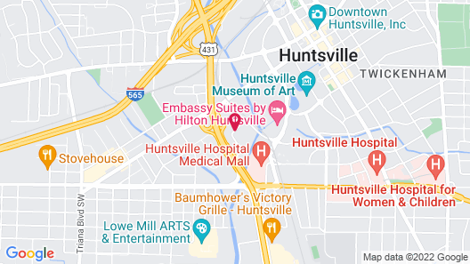 SpringHill Suites Huntsville Downtown Map