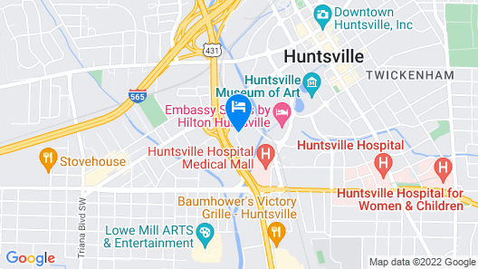 SpringHill Suites Huntsville Downtown Map