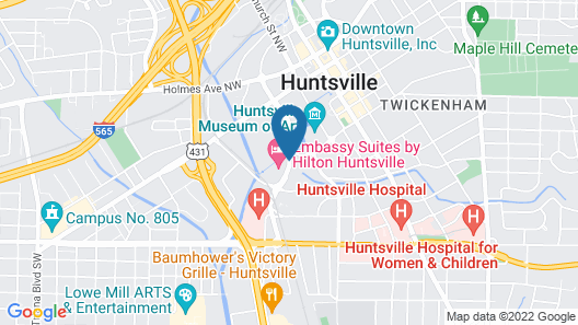 Embassy Suites by Hilton Huntsville Hotel & Spa Map