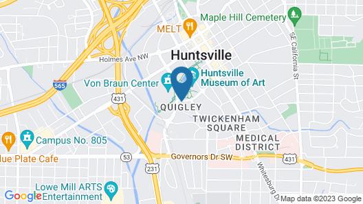 AC Hotel by Marriott Huntsville Downtown Map