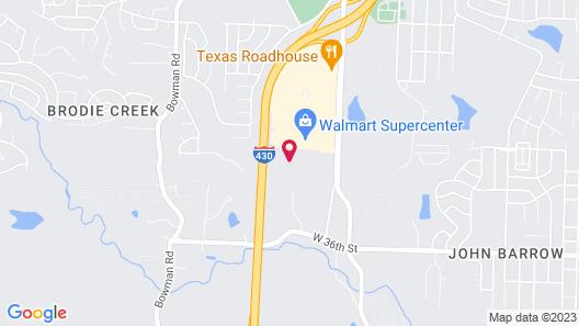 Comfort Suites Little Rock West Map